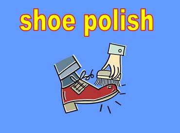 Man Polishing His Shoes