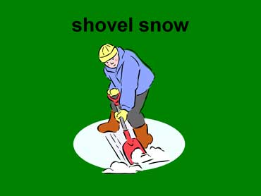 Man Shoveling Snow