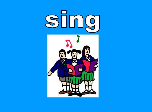◄اللغة الانجليزية...... Common Activities Lesson.► Sing