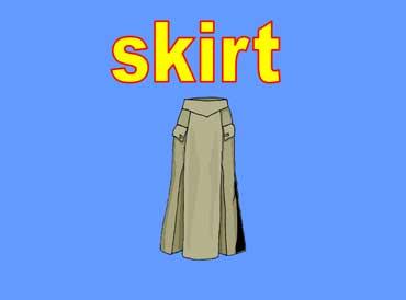 Long Gray Skirt