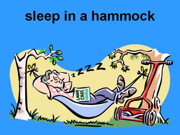 Sleep in a Hammock