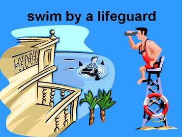 Swim by a Lifeguard