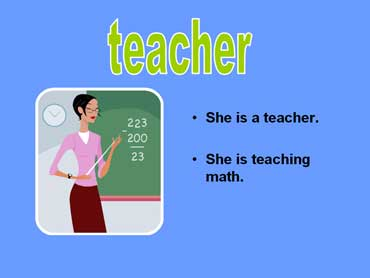 Teacher Standing in Front of Board