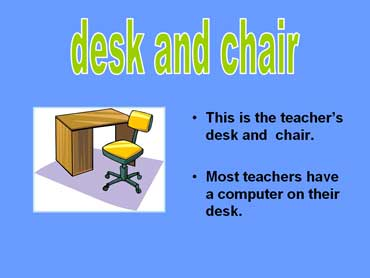 Teacher's Desk and Chair