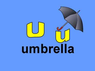 U u - Umbrella
