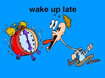 Wake Up Late Cartoon