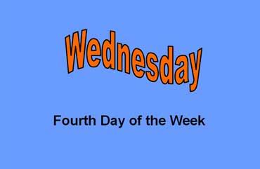 Wednesday - Fourth
