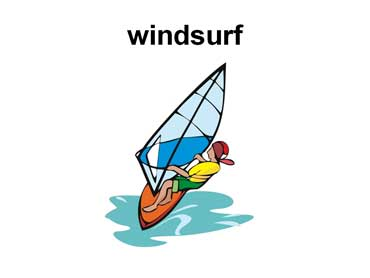 Teenager Windsurfing