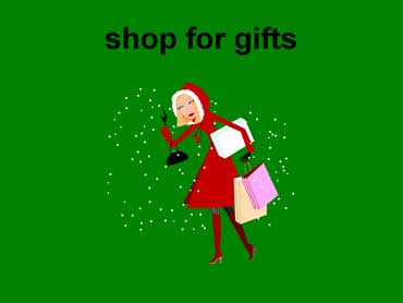 Woman Shopping for Holiday Gifts