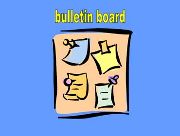 Bulletin Board with Notices