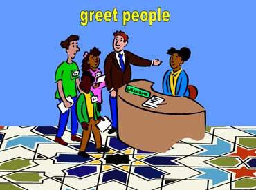 Greet Visitors