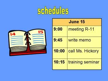 Schedule Form