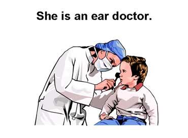 Ear Doctor Looking in a Patient's Ear