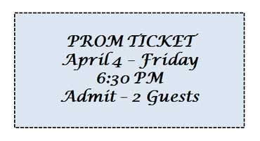 Ticket to the Prom