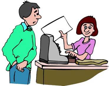 Cashier, Cash Register, and Customer