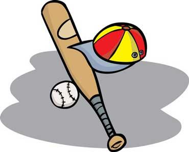 Baseball, Bat, and Cap