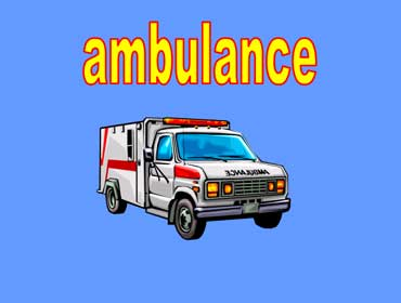 White Ambulance with Red Trim