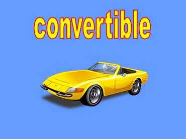 Convertible Car with Its Top Down