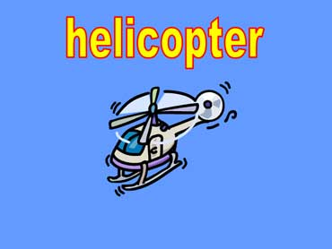Helicopter with Blades Swirling