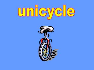 Unicycle with One Wheel and Seat