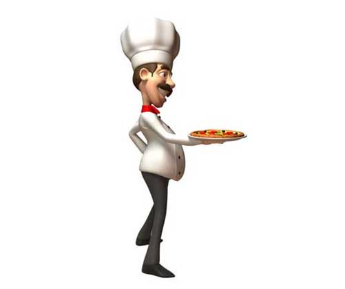 Chef Wearing Hat and Smock