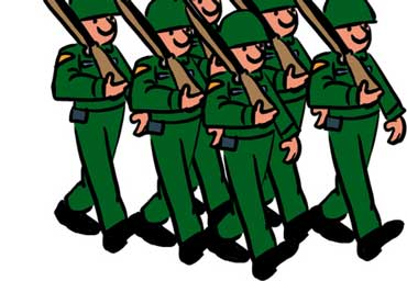 Soldiers in the Army