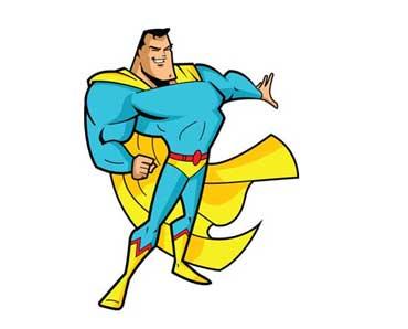 Superhero Wearing a Cape