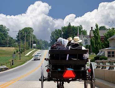 Amish Practicing Freedom of Religion