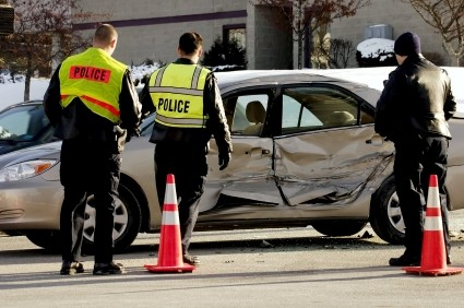Car Accident and Police Officers