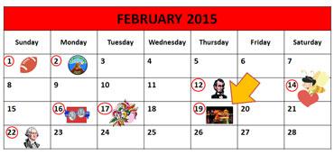 Chinese New Year Calendar, 2015