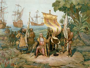 Columbus Landing in the New World