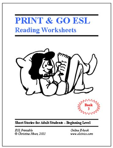 Worksheet Free Esl Worksheets For Beginners free esl ebooks printable worksheets print and go ebook 3