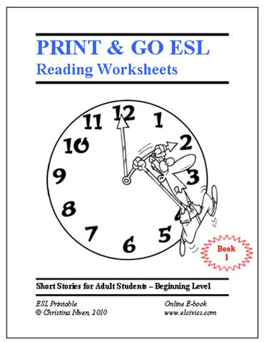 Worksheets English As A Second Language Worksheets free esl ebooks printable worksheets print and go ebook number 1