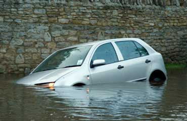 Car Stuck in a Flood