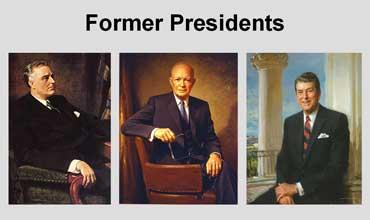 Franklin D. Roosevelt, Dwight Eisenhower, Ronald Reagan