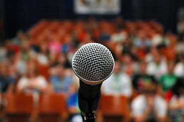 Microphone Represents Free Speech