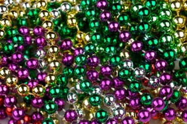 Purple, Green, Gold Mardi Gras Bead Necklaces