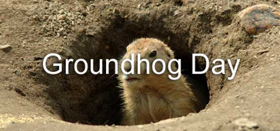 Groundhog Day Banner