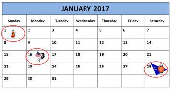 Chinese New Year Calendar, 2016