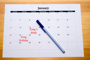 Martin Luther King, Jr. Holiday is the Third Monday in January