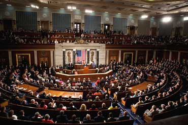 Joint Session of Congress with Senate and House of Representatives