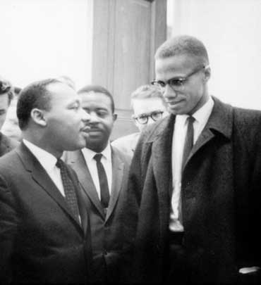 Malcolm X and Martin Luther King, Jr.