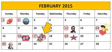 February 12, 2013 - Calendar Showing Mardi Gras