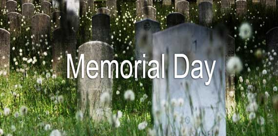 Memorial Day Lesson Banner of Cemetery