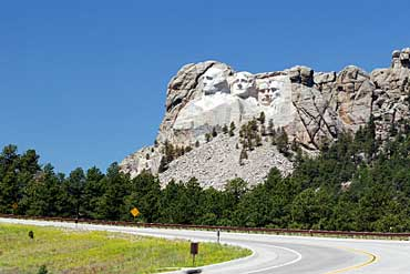 Mount Rushmore View from Road