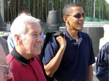 Obama with Lugar on an Overseas Mission