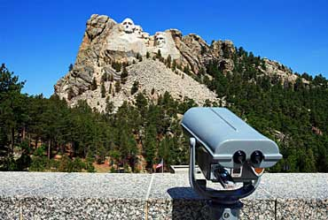 Mount Rushmore Observation Deck with Binoculars