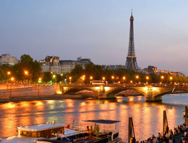 Paris, France - Eiffel Tower on the Seine River