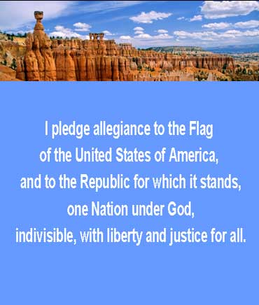 Copy of the Pledge of Allegiance