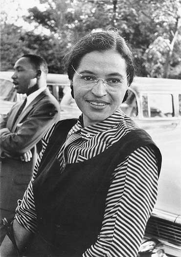 Rosa Parks and Martin Luther King, Jr.